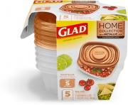 Glad Home Collection Metallic Small Snack Containers
