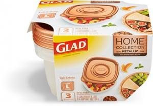 Glad Home Collection Metallic Large Tall Containers