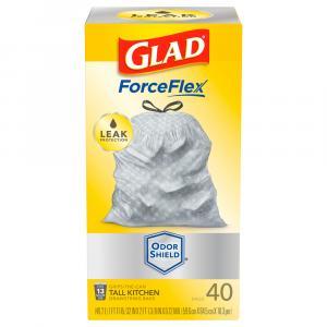 Glad ForceFlex Plus Odor Shield Drawstring Trash Bags