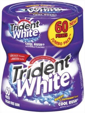 Trident White Cool Rush Gum Bottle