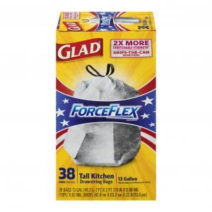 Glad 13-gallon Forceflex Drawstring Kitchen Bags