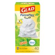 Glad Tall Kitchen Drawstring 13-Gallon Gain Original Bags