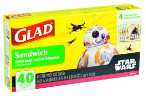 Glad Zipper Sandwich Bags Star Wars