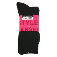 No nonsense Acrylic Rig Crew Black Socks