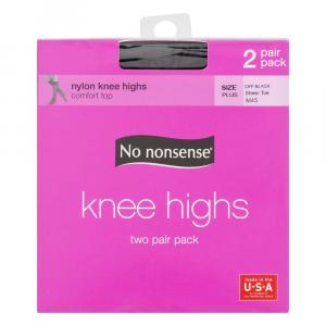 No nonsense Off Black Knee Highs