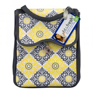 Fit & Fresh Yellow Gray Lunch Bag