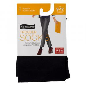 No nonsense Silky Opaque Trouser Socks Black Size 9-12