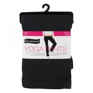 No nonsense Yoga Pants, Black Size Large