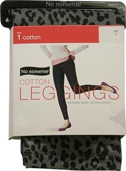 No Nonsense Cotton Leggings - Steel Animal - Small