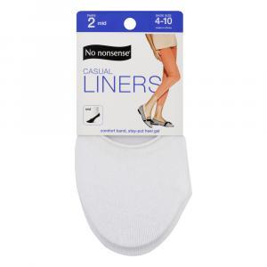No nonsense Women's Casual Cotton Liners White