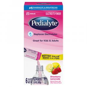 Pedialyte Strawberry Lemonade Powder Packets