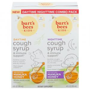 Burt's Bees Daytime Nighttime Cough Syrup Combo Pack