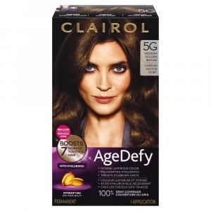 Clairol Age Defy Medium Golden Brown 5G Permanent Hair Color
