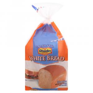 Rhodes White Bread 3 Loaves