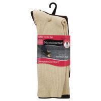 No Nonsense Brown & Tan Cotton Jean Ribbed Socks