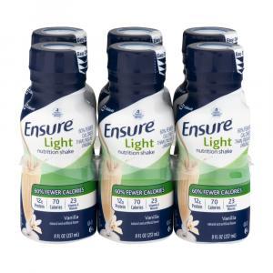 Ensure Active Light Nutrition Vanilla Shakes