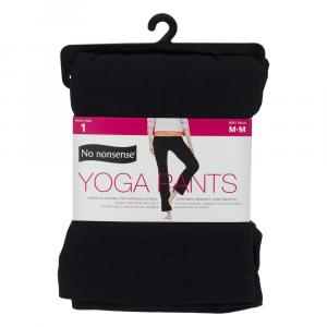 No nonsense Yoga Pants, Black Size Medium
