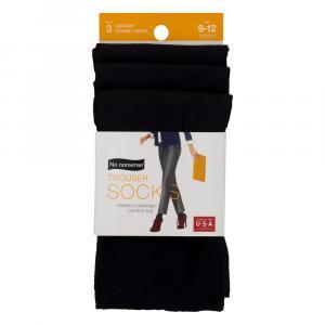 No nonsense Silky Trouser Socks Black Size 9-12