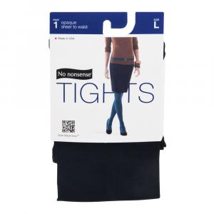 No nonsense Opaque Sheer To The Waist, Black, Large