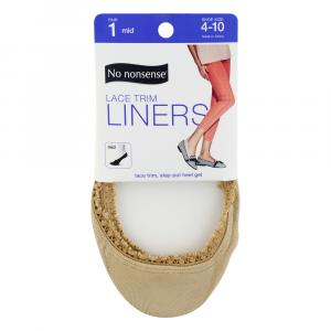 No nonsense Mid Cut Lace Trim Liner Size 4-10