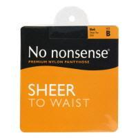 No nonsense Sheer To Waist Medium Tall Black Pantyhose