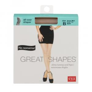 No nonsense Beige Great Shapes All Over Shaper Size-B