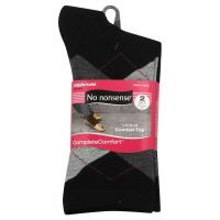 No Nonsense Argyle Solid Socks, Black