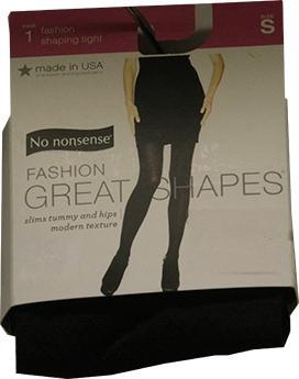 No nonsense Fashion Shaping Tights, Black, Small