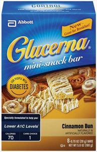 Glucerna Cinnamon Bun Mini Snack Bars