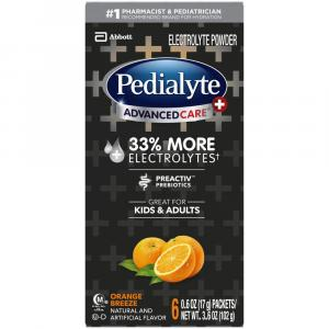 Pedialyte Orange Breeze Powder Packets