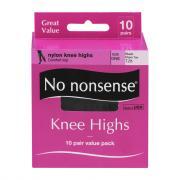 No nonsense Black Knee Highs
