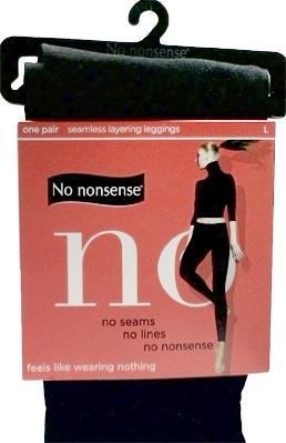 No nonsense Seamless Black Leggings Large