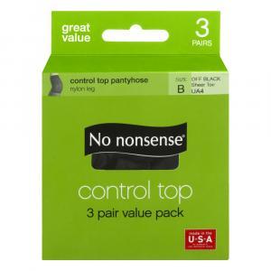 No nonsense Off Black Control Top Size-B