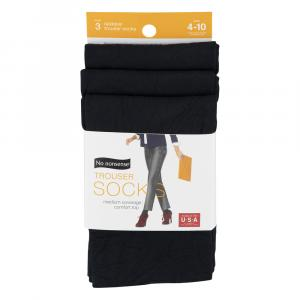 No nonsense Silky Trouser Socks Black Size 4-10
