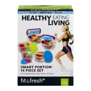 Fit & Fresh Healthy Living Smart Portion Containers