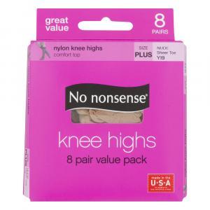 No nonsense Knee High Nude Stockings Plus Size