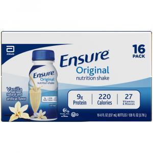 Ensure Vanilla Nutrition Shakes