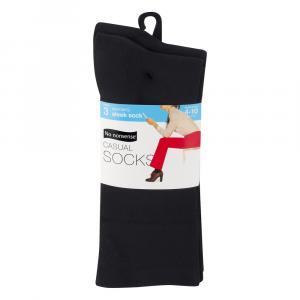 No nonsense Sleek Casual Black Sock Sizes 4 - 10