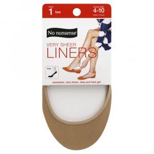 No nonsense Beige Very Sheer Liner with Stay-Put Heel