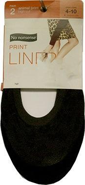 No nonsense Animal Print Liner, High Cut, Size 4-10