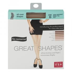 No nonsense Size-D Great Shapes All Over Shaper Beige