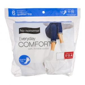 No nonsense Women's White Quarter Top Socks