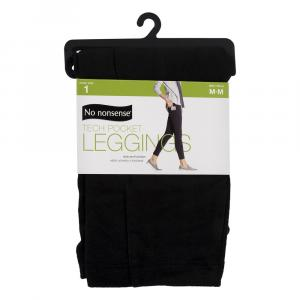 No nonsense Black Tech Pocket Leggings Medium