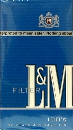 L&M Full Flavor 100's Blue Box Cigarettes