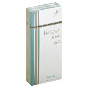 Virginia Slims Gold Menthol 120's Box Cigarettes