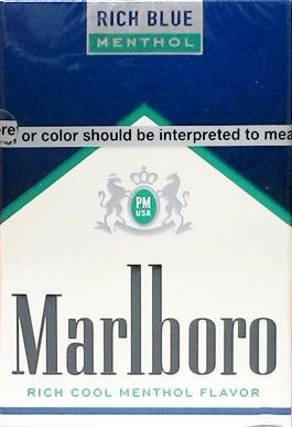 Marlboro Menthol Rich Blue Kings Cigarettes