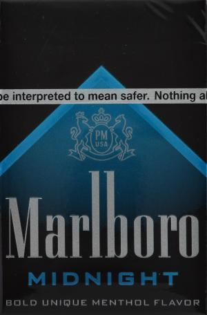 Marlboro Midnight Menthol Box Package Cigarettes