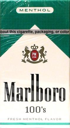 Marlboro Full Flavor Menthol 100's Box Cigarettes