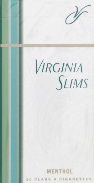 Virginia Slims Full Flavor Menthol 100's Box Cigarettes