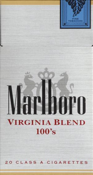 Marlboro Virginia Blend 100's Box Cigarettes